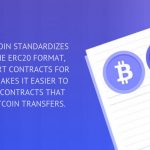 WRAPPED BITCOIN STANDARDIZES BITCOIN TO THE ERC20 FORMAT, CREATING SMART CONTRACTS FOR BITCOIN AND MAKES IT EASIER TO WRITE SMART CONTRACTS THAT INTEGRATE BITCOIN TRANSFERS.