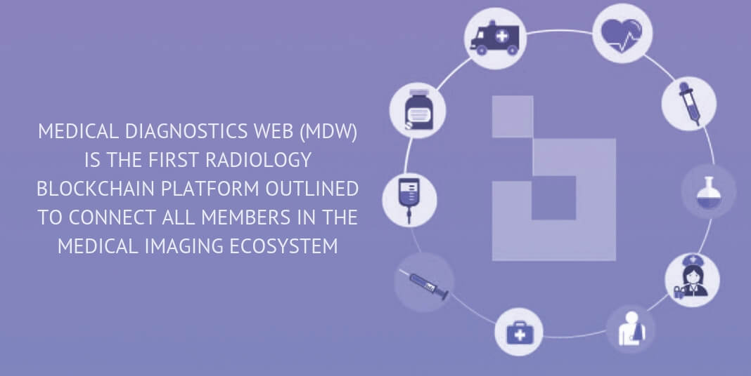 MEDICAL DIAGNOSTICS WEB (MDW) IS THE FIRST RADIOLOGY BLOCKCHAIN PLATFORM OUTLINED TO CONNECT ALL MEMBERS IN THE MEDICAL IMAGING ECOSYSTEM