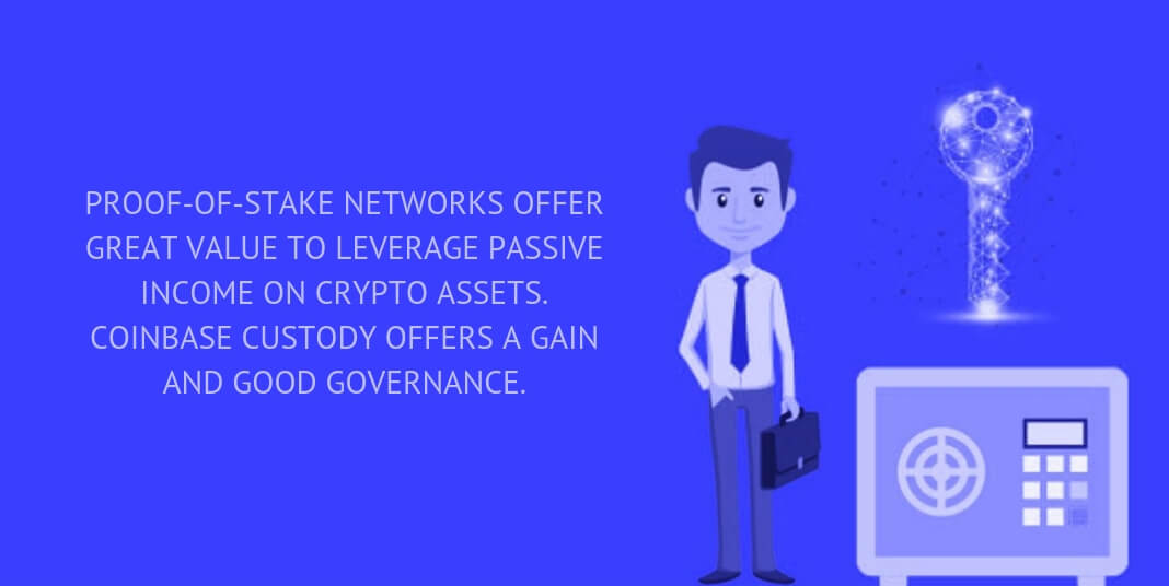 PROOF-OF-STAKE NETWORKS OFFER GREAT VALUE TO LEVERAGE PASSIVE INCOME ON CRYPTO ASSETS. COINBASE CUSTODY OFFERS A GAIN AND GOOD GOVERNANCE.
