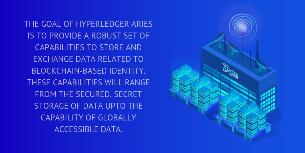 the goal of hyperledger aries is to provide a robust set of capabilities to store and exchange data related to blockchain-based identity.