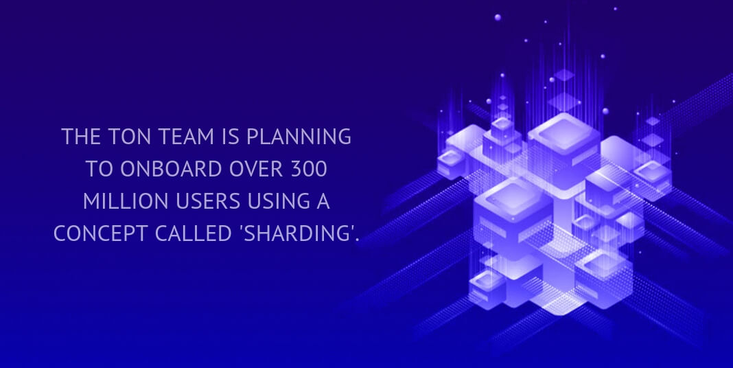 The TON team is planning to onboard over 300 million users using a concept called 'sharding'.