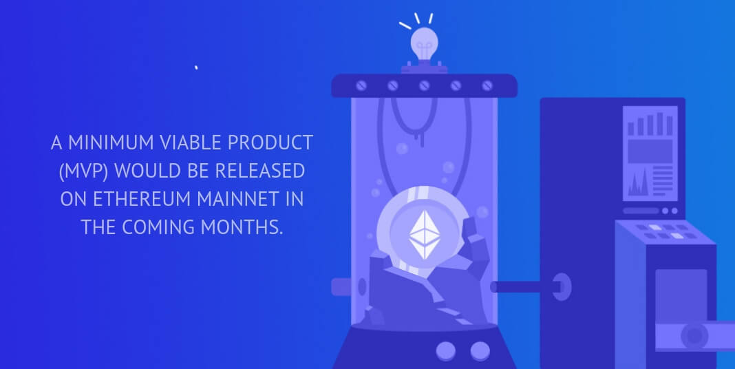 A minimum viable product (MVP) would be released on Ethereum mainnet in the coming months.