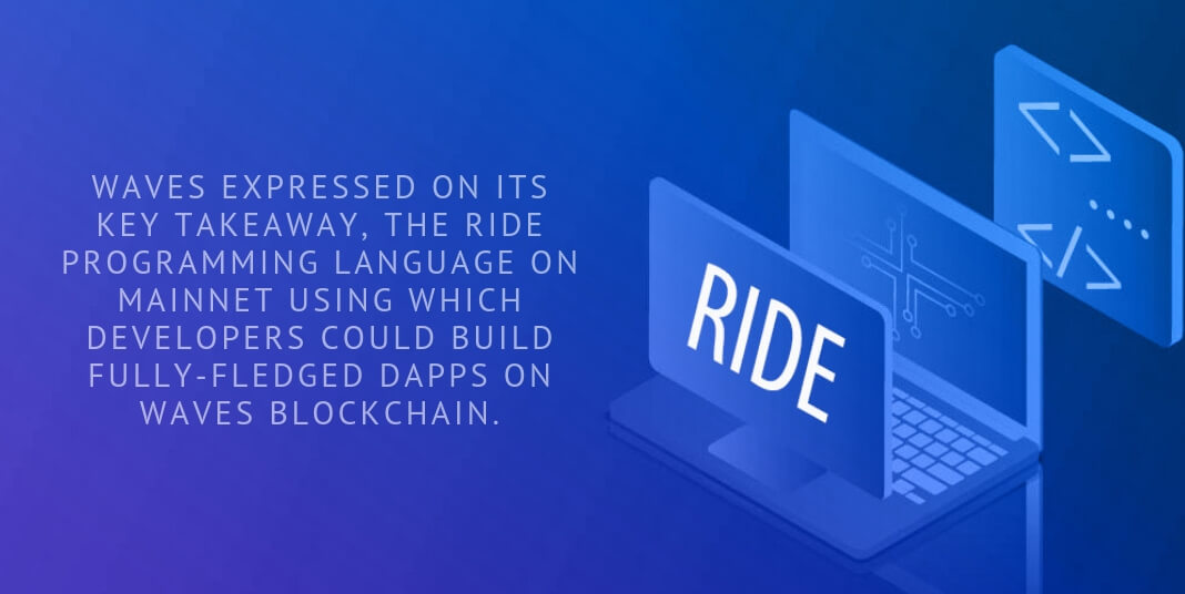 Waves expressed on its key takeaway, the RIDE programming language on mainnet using which developers could build fully-fledged dApps on Waves blockchain.