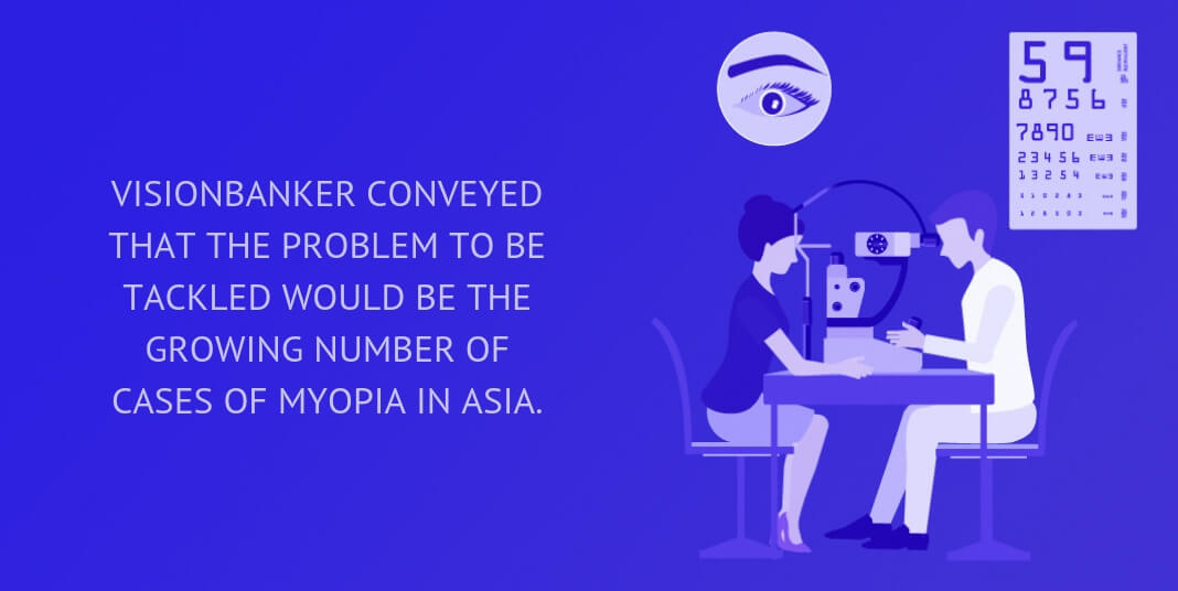 VisionBanker conveyed that the problem to be tackled would be the growing number of cases of myopia in Asia.
