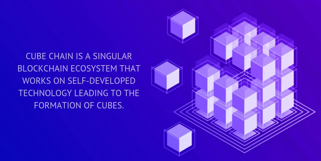 cube chain is a singular blockchain ecosystem that works on self-developed technology leading to the formation of cubes.