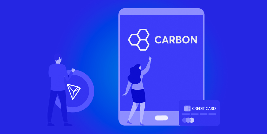 Carbon greens credit card purchase of TRON cryptos